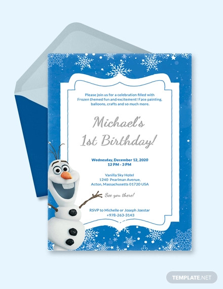 creative frozen birthday invitation