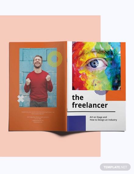 creative magazine template