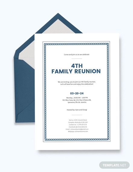 creative reunion invitation