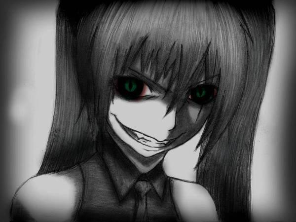 Creepy Anime Drawing