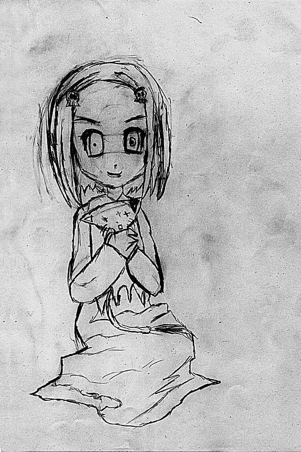 Creepy Girl Drawing