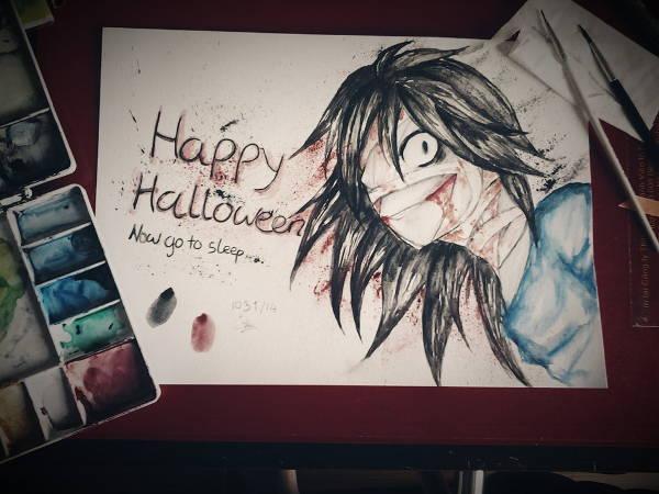 Creepy Halloween Drawing