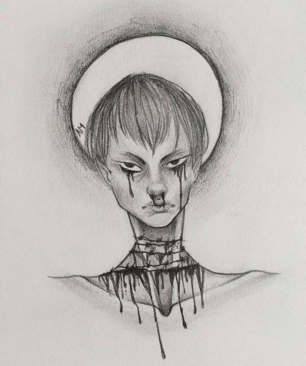 Creepy Pencil Drawing