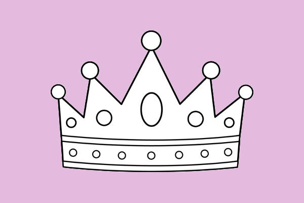 Crown Outline Clipart