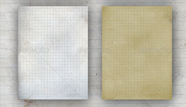 Crumpled Lined Paper Texture