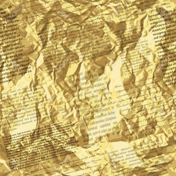 Crumpled Newspaper Texture