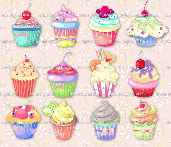 Cupcake Transparent Clipart