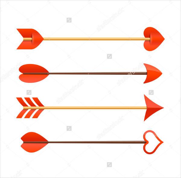 cupid arrow vectors