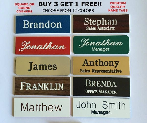 Insane image regarding free customized name tags printable