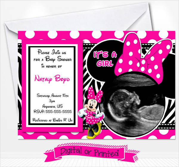 10 minnie mouse baby shower invitations psd ai illustrator download customizable minnie mouse baby shower invitation filmwisefo