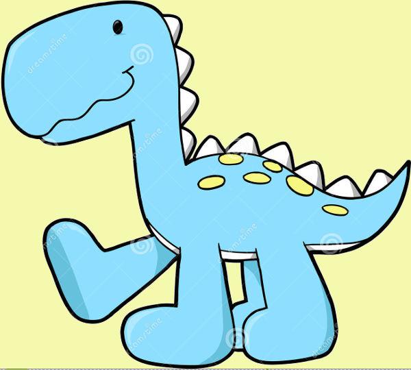 Cute Baby Dinosaur Clip Art