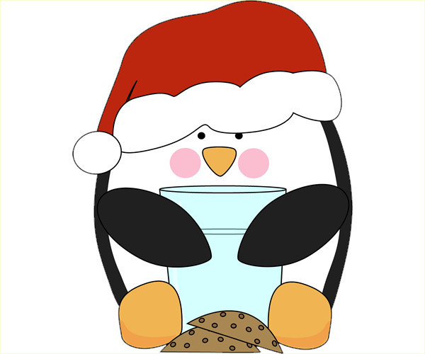 Cute Christmas Penguin Clip Art