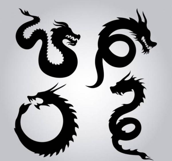 Cute Dragon Silhouette