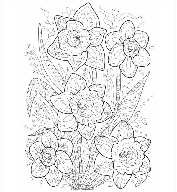 Cute Flower Coloring Page