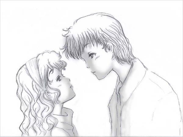 Cute Love Cartoon Drawing