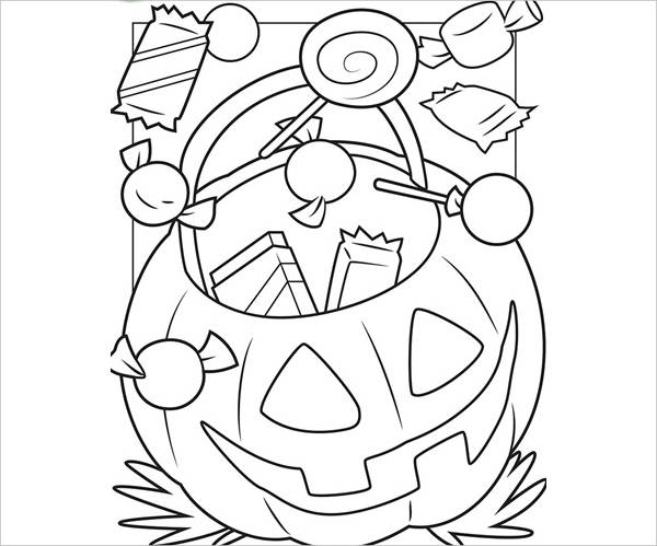Cute Printable Halloween Coloring Page