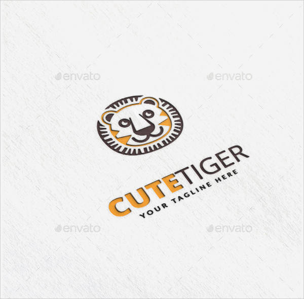 cute tiger logo