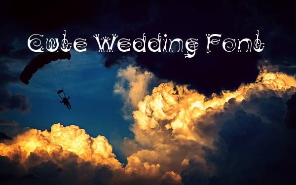 Cute Wedding Font