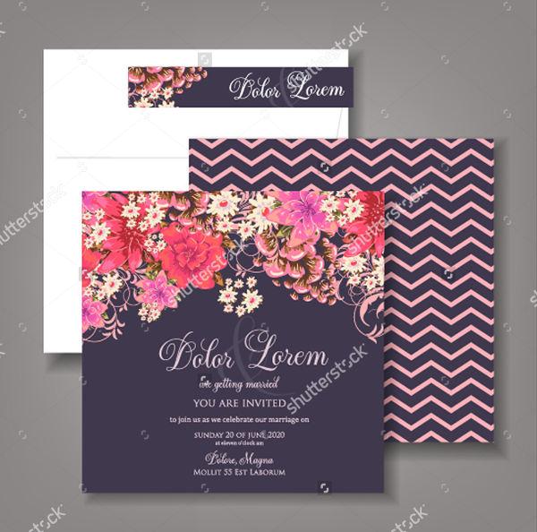 Cute Wedding Invitation Design
