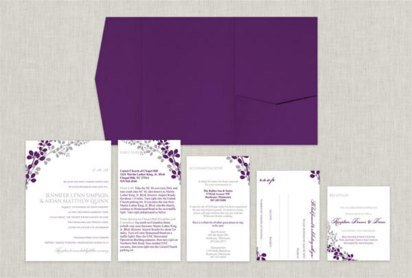 DIY Pocket Wedding Invitation