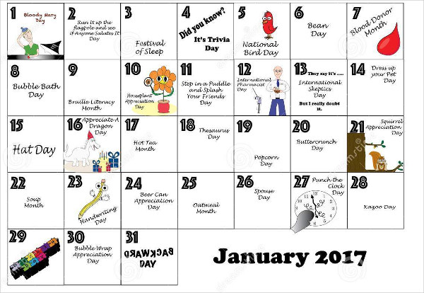 Daily Holidays Calendar