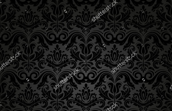 Damask Black Pattern