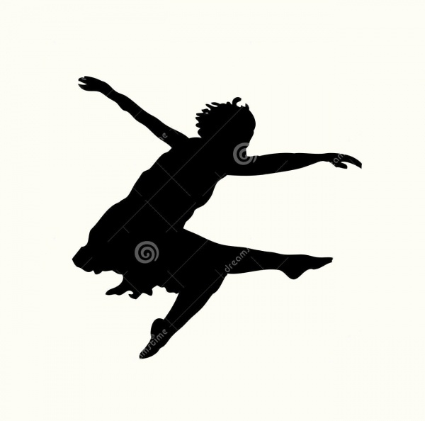 Dancer Silhouette Jump