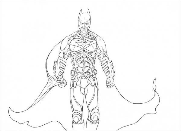 Dark Knight Batman Coloring Page