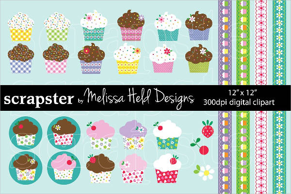 Decorated Cupcake Clipart