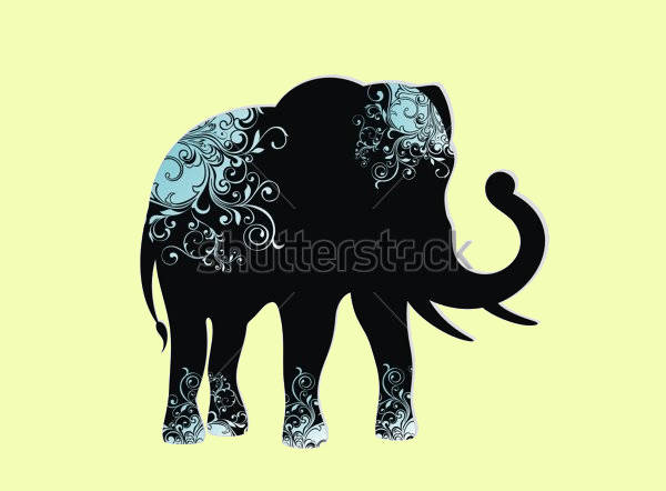 Decorative Elephant Silhouette