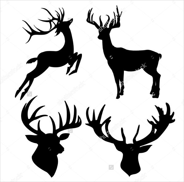 Deer Head Silhouette Clipart