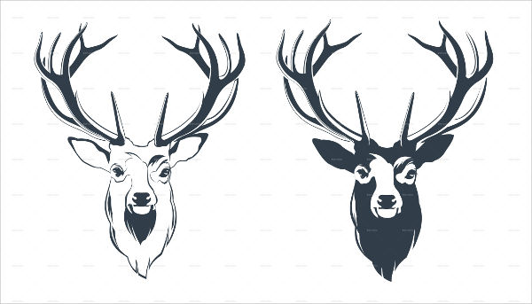 Deer Head Silhouette Png