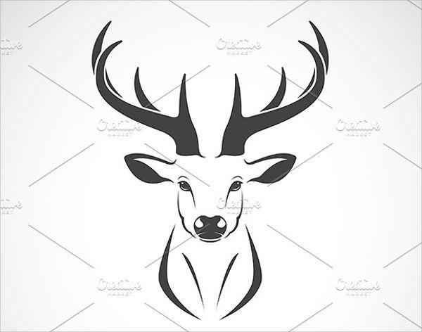 Deer Head Silhouette Vector