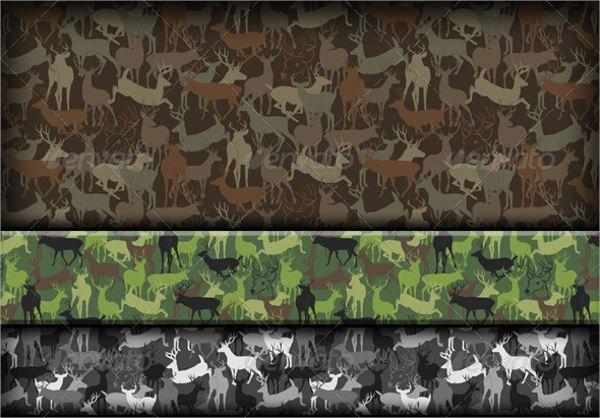 Deer Silhouette Pattern