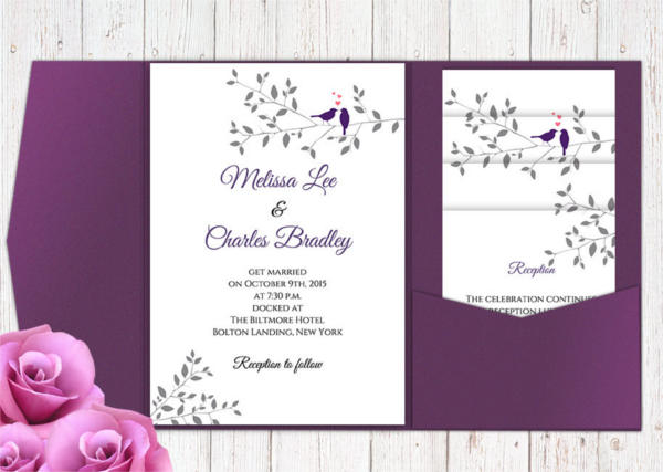 DiY Printable Pocket Wedding Invitation