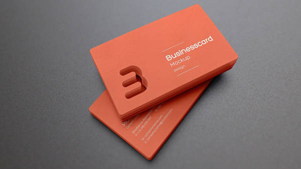 die cut business card mockup1