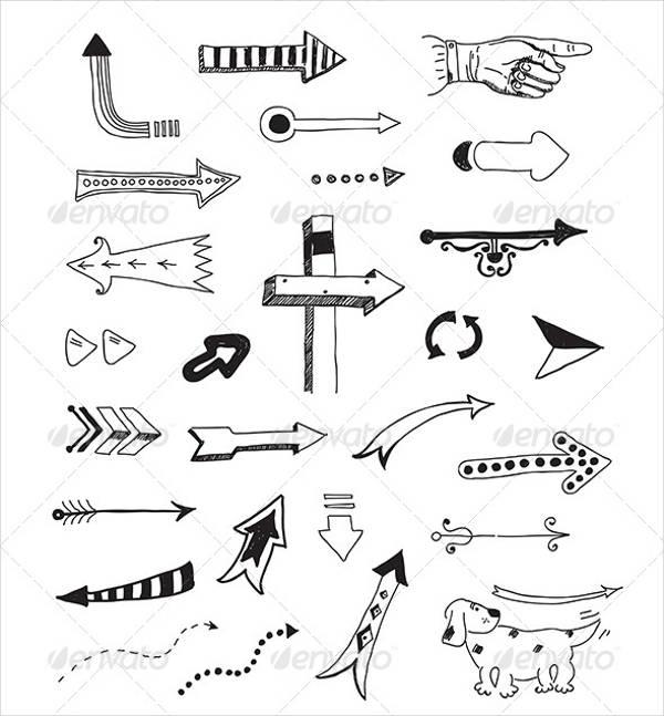 different arrow vectors