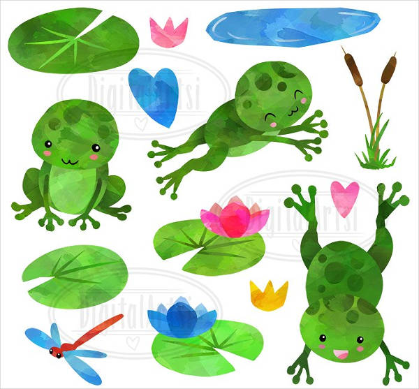 Different Frogs Clipart