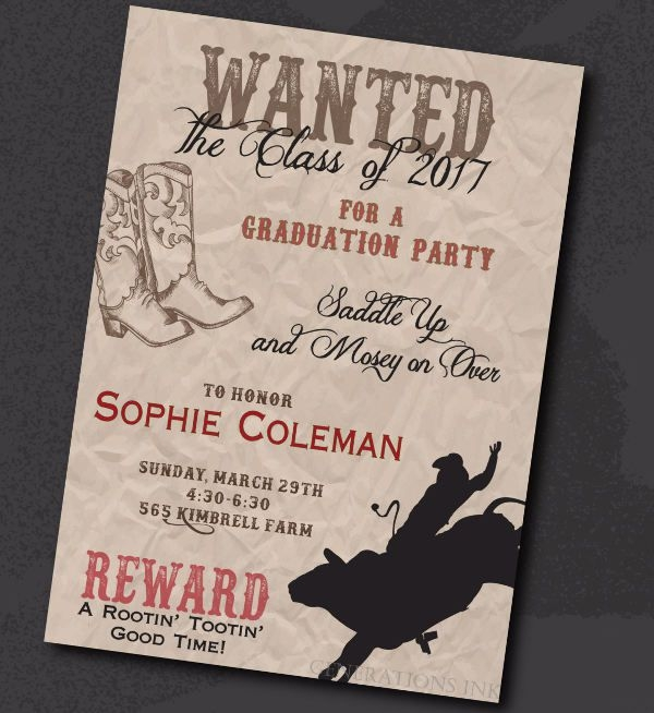 Digital Graduation Invitation Wording