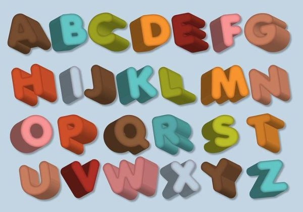 Dimensional Printable Alphabet Letters