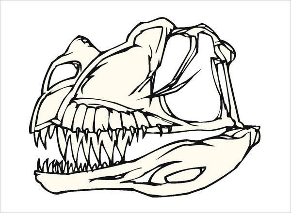 Dinosaur Bones Coloring Page