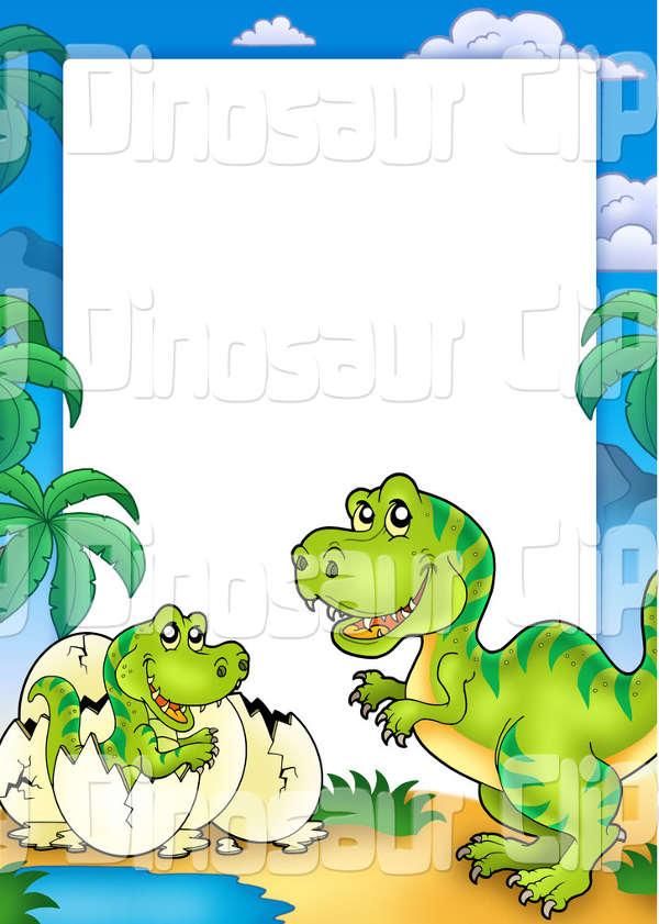 Dinosaur Border Clip Art
