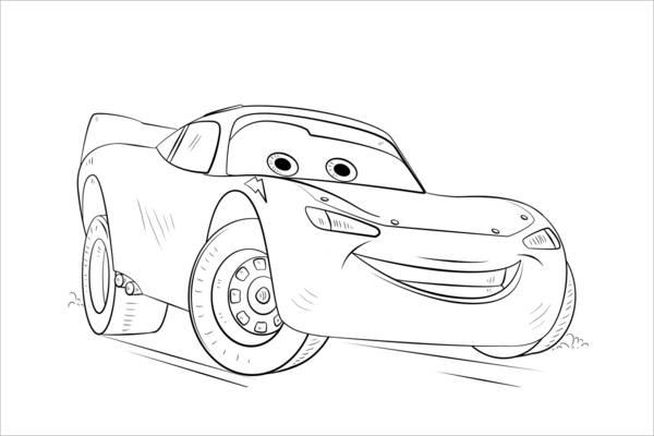 Disney Car Coloring Page