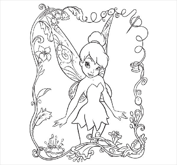Disney Cartoon Coloring Page