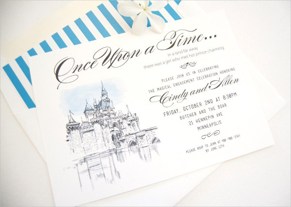 Disney Engagement Invitation Design