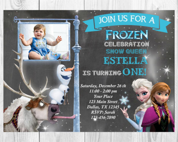 Disney Frozen Birthday Invitation