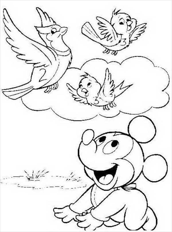 Disney Spring Coloring Page