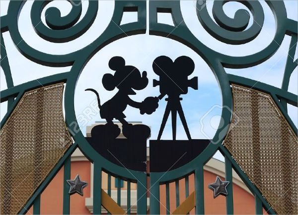 Disneyland Mickey Mouse Silhouette