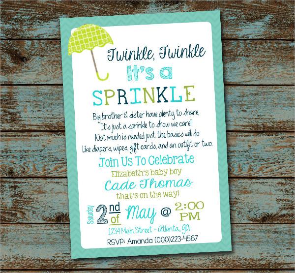 Diy Baby Sprinkle Invitation