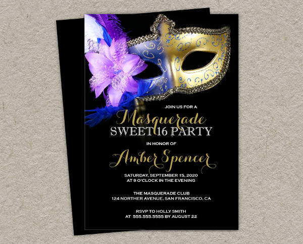 Diy Sweet Sixteen Invitation Design